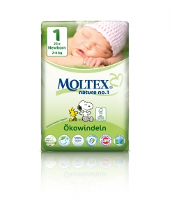 MOLTEX nature no. 1 Newborn 2-4kg 23ks