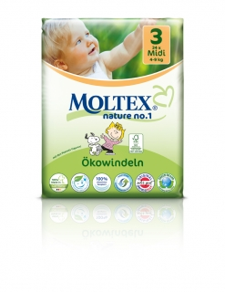 MOLTEX nature no. 3 Midi 4-9kg 34ks