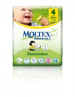 MOLTEX nature no. 4. Maxi 7-18kg 30ks