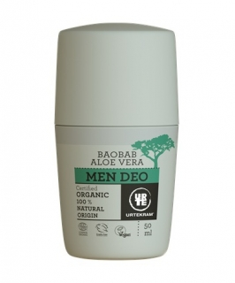 URTEKRAM MEN roll-on BAOBAB a AloeVera 50ml