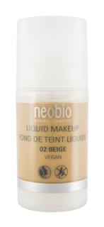 NEOBIO Tekutý Make-up 02 Béžová 30ml
