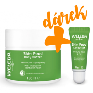 Weleda Skin Food Body Butter 150 ml + DÁREK NAVÍC: Weleda Skin Food Lip Butter 8 ml