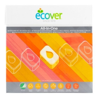 Ecover Tablety do myčky All in One NordicSwan 1,3 kg / 65 ks